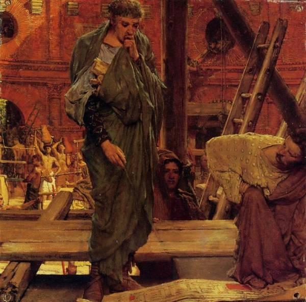 Alma Tadema Architecture in Ancient Rome